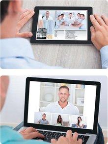 Vidéoconférence via PC,tablette...