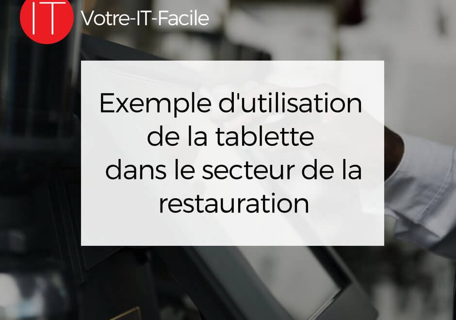 tablette dans le secteur de la restauration