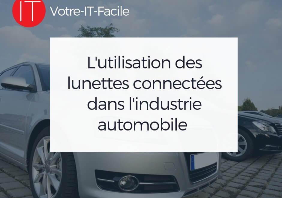 lunettes connectées dans l'industrie automobile