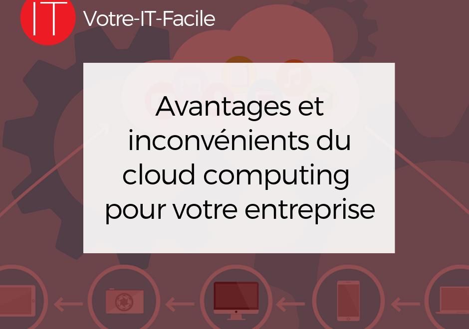 Avantages et inconvénients du cloud computing