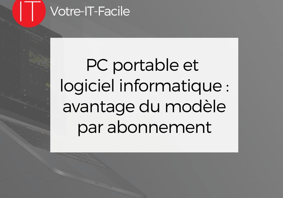PC portable et logiciel informatique