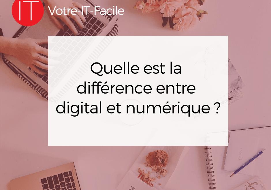 différence entre digital et numérique