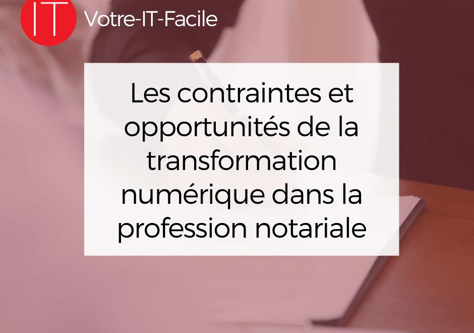 transformation numérique dans la profession notariale