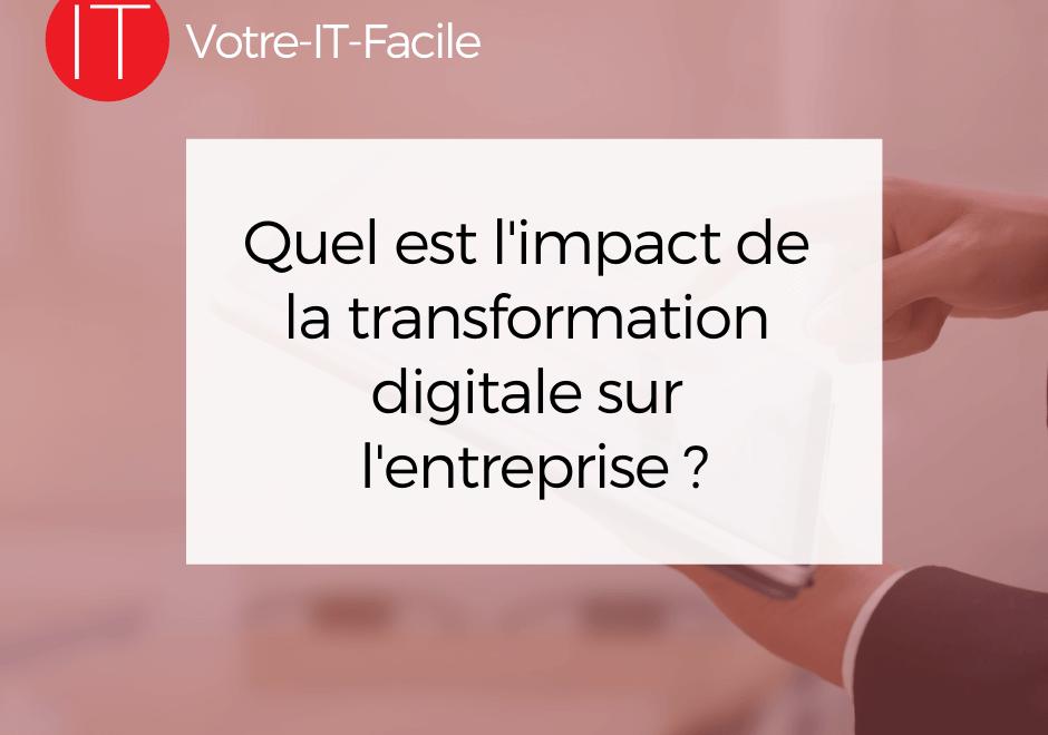 impact de la transformation digitale