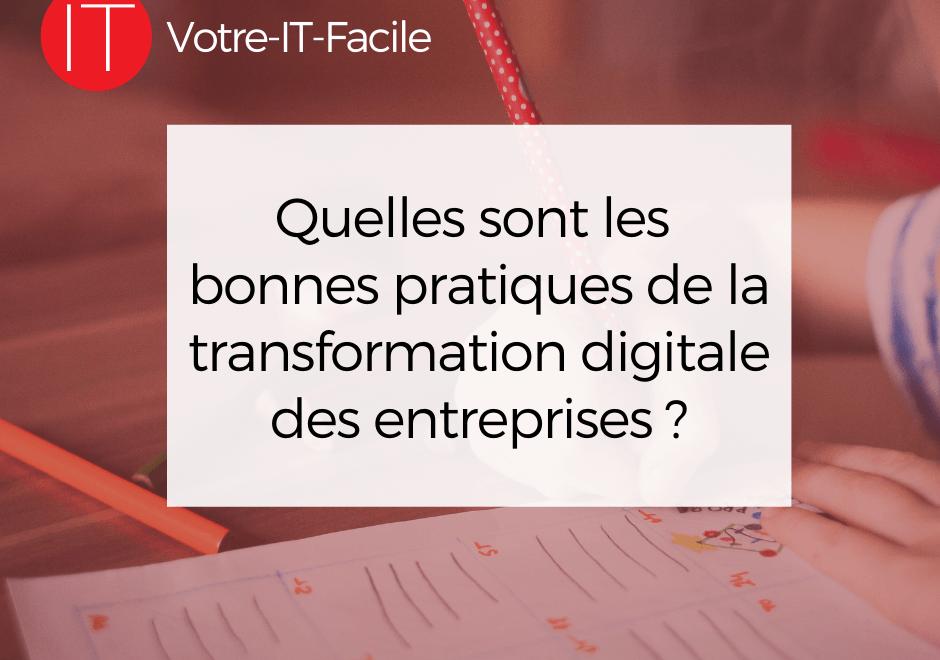 bonnes pratiques de la transformation digitale